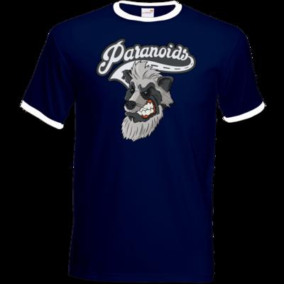 Motiv: T-Shirt Ringer - Paranoids Logo