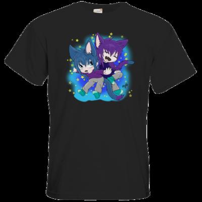 Motiv: T-Shirt Premium FAIR WEAR - Katzenbrüder