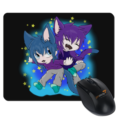 Motiv: Mousepad Textil - Katzenbrüder