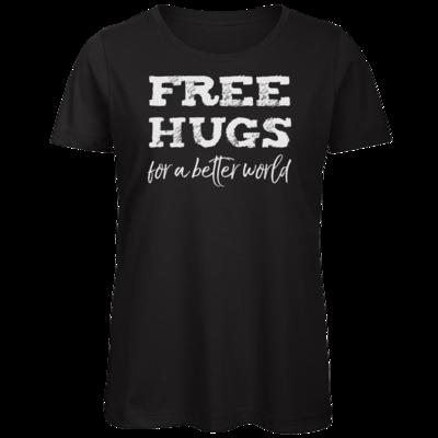 Motiv: Organic Lady T-Shirt - Free Hugs #01