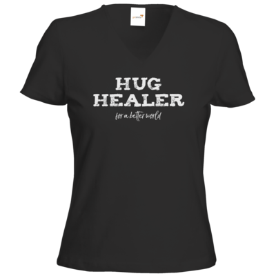 Motiv: T-Shirt Damen V-Neck Classic - Hug Healer #01
