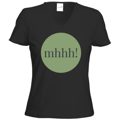 Motiv: T-Shirts Damen V-Neck FAIR WEAR - Ofen Offen mhhh!