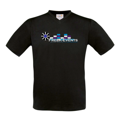 Motiv: T-Shirt V-Neck FAIR WEAR - FreeK-Events-Logo