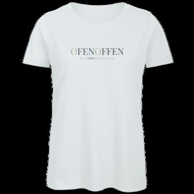 Motiv: Organic Lady T-Shirt - Ofen Offen Dein mhhh! für jeden Tag.