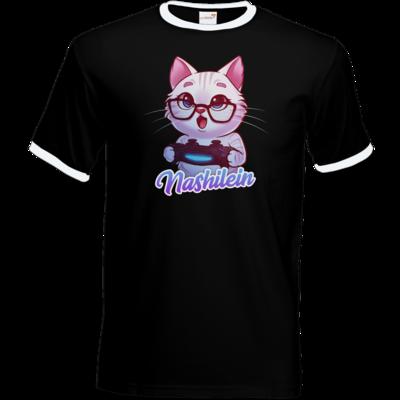 Motiv: T-Shirt Ringer - Nashi Logo + Schriftzug