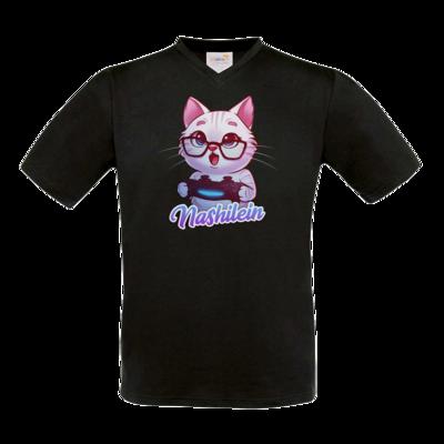 Motiv: T-Shirt V-Neck FAIR WEAR - Nashi Logo + Schriftzug