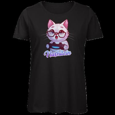 Motiv: Organic Lady T-Shirt - Nashi Logo + Schriftzug