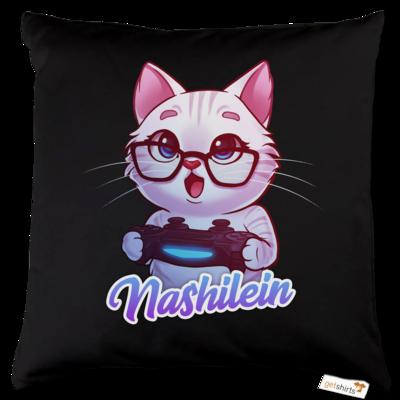 Motiv: Kissen Baumwolle - Nashi Logo + Schriftzug