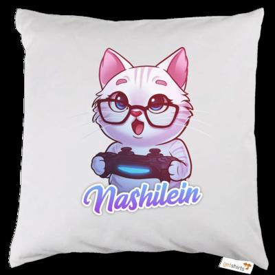 Motiv: Kissen - Nashi Logo + Schriftzug