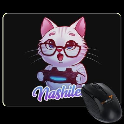 Motiv: Mousepad Textil - Nashi Logo + Schriftzug