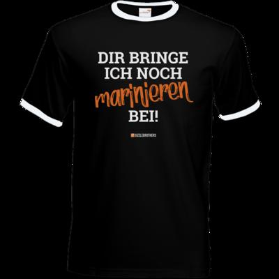 Motiv: T-Shirt Ringer - Marinieren bei bringen!