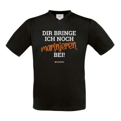 Motiv: T-Shirt V-Neck FAIR WEAR - Marinieren bei bringen!