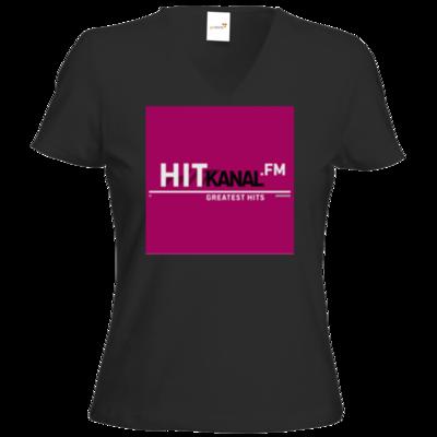 Motiv: T-Shirt Damen V-Neck Classic - Hitkanal.FM