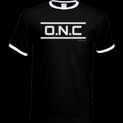 Motiv: T-Shirt Ringer - ONC Schriftzug