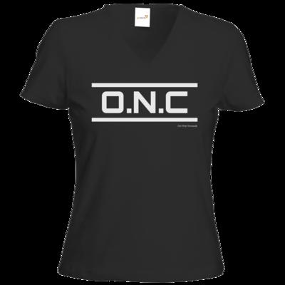 Motiv: T-Shirts Damen V-Neck FAIR WEAR - ONC Schriftzug