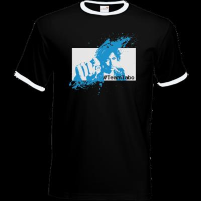 Motiv: T-Shirt Ringer - #TeamTabo - Blau