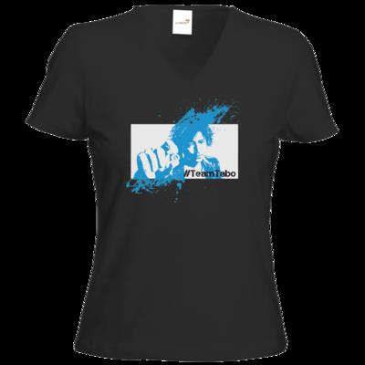 Motiv: T-Shirt Damen V-Neck Classic - #TeamTabo - Blau