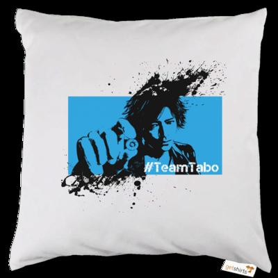 Motiv: Kissen - #TeamTabo - Blau