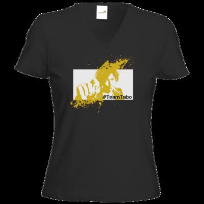 Motiv: T-Shirt Damen V-Neck Classic - #TeamTabo - Gelb