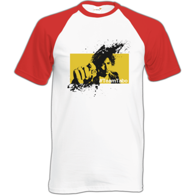 Motiv: Baseball-T FAIR WEAR - #TeamTabo - Gelb