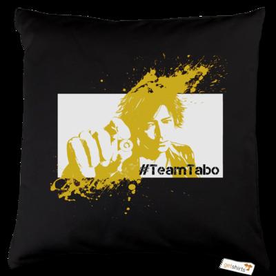 Motiv: Kissen Baumwolle - #TeamTabo - Gelb
