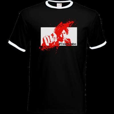 Motiv: T-Shirt Ringer - #TeamTabo  - Rot