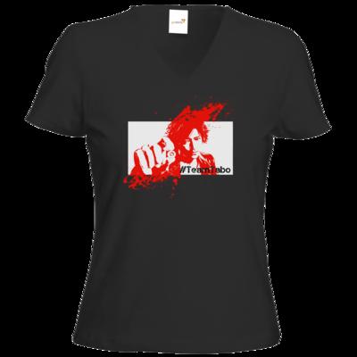 Motiv: T-Shirt Damen V-Neck Classic - #TeamTabo  - Rot