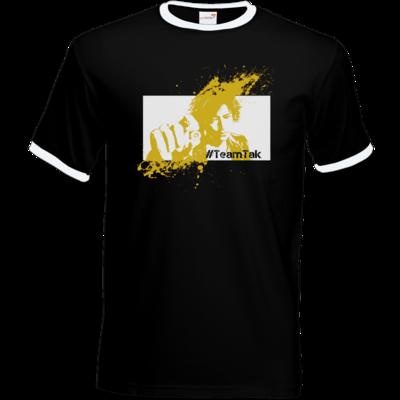 Motiv: T-Shirt Ringer - #TeamTak - Gelb