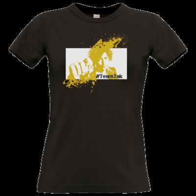 Motiv: T-Shirt Damen Premium FAIR WEAR - #TeamTak - Gelb