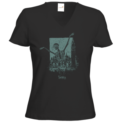 Motiv: T-Shirts Damen V-Neck FAIR WEAR - HeXXen - Totentanz
