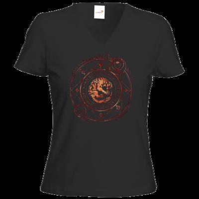 Motiv: T-Shirts Damen V-Neck FAIR WEAR - Dämonen - Pandämonium