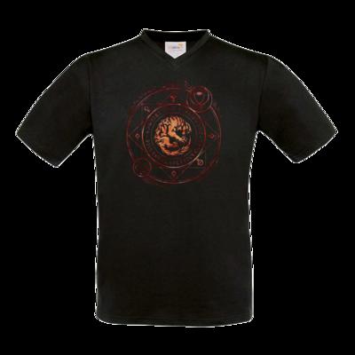 Motiv: T-Shirt V-Neck FAIR WEAR - Dämonen - Pandämonium