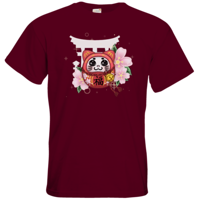 Motiv: T-Shirt Premium FAIR WEAR - Neko Daruma