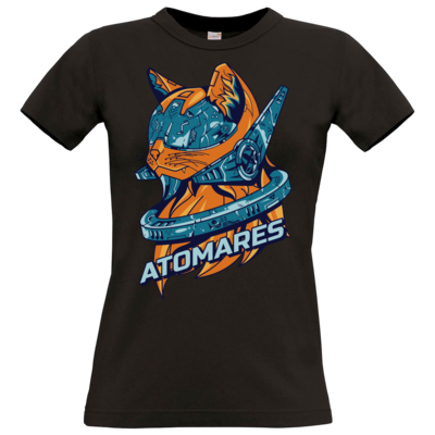 Motiv: T-Shirt Damen Premium FAIR WEAR - Retro Future Cat