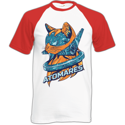 Motiv: Baseball-T FAIR WEAR - Retro Future Cat