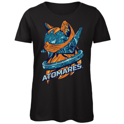 Motiv: Organic Lady T-Shirt - Retro Future Cat