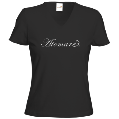 Motiv: T-Shirts Damen V-Neck FAIR WEAR - (C)atomares