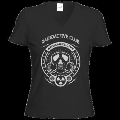 Motiv: T-Shirts Damen V-Neck FAIR WEAR - Radioactive Club
