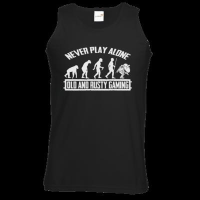 Motiv: Athletic Vest - Evolution PUBG never play alone black or white
