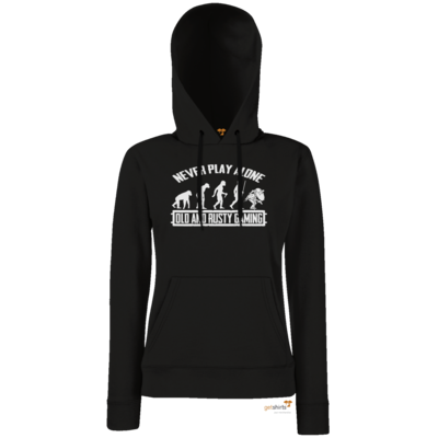 Motiv: Hoodie Damen Classic - Evolution PUBG never play alone black or white