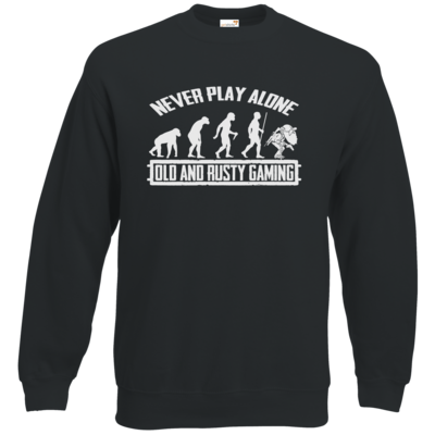 Motiv: Sweatshirt Classic - Evolution PUBG never play alone black or white