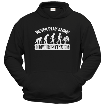 Motiv: Hoodie Classic - Evolution PUBG never play alone black or white