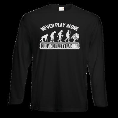 Motiv: Exact 190 Longsleeve FAIR WEAR - Evolution PUBG never play alone black or white