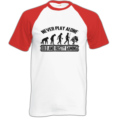Motiv: Baseball-T FAIR WEAR - Evolution PUBG never play alone black or white