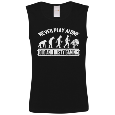 Motiv: Athletic Vest FAIR WEAR - Evolution PUBG never play alone black or white