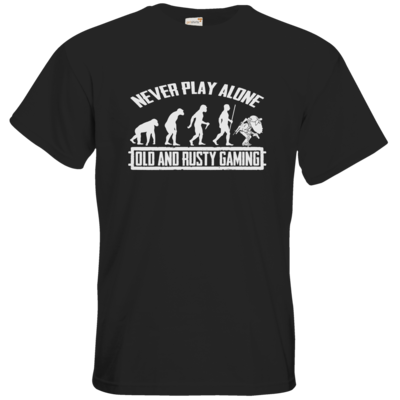 Motiv: T-Shirt Premium FAIR WEAR - Evolution PUBG never play alone black or white