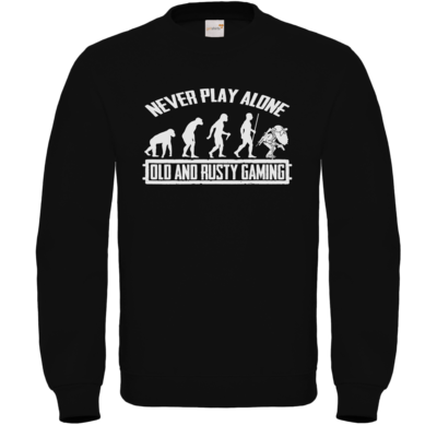 Motiv: Sweatshirt FAIR WEAR - Evolution PUBG never play alone black or white