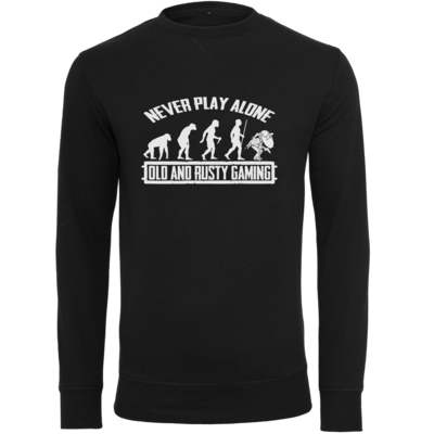 Motiv: Light Crew Sweatshirt - Evolution PUBG never play alone black or white