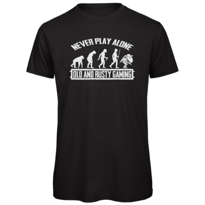 Motiv: Organic T-Shirt - Evolution PUBG never play alone black or white