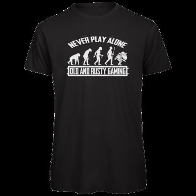 Motiv: Organic T-Shirt - Evolution PUBG never play alone black or white